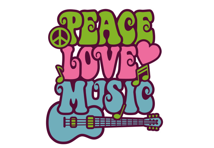 Love Wall Music Peace Hippie