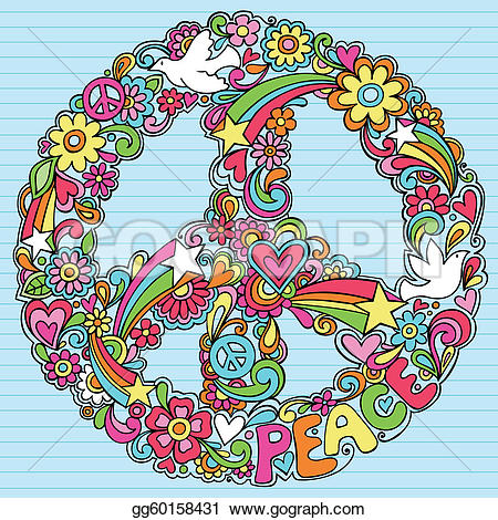 Peace Sign clipart psychedelic Van Free Sign Royalty Psychedelic