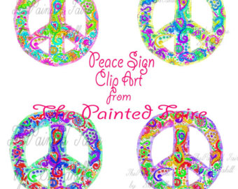 Peace Sign clipart hippie Peace art graphics peace Etsy