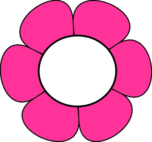 Pink Flower clipart hippie Clker Flower vector this com
