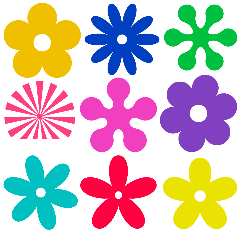 Red Flower clipart groovy #6
