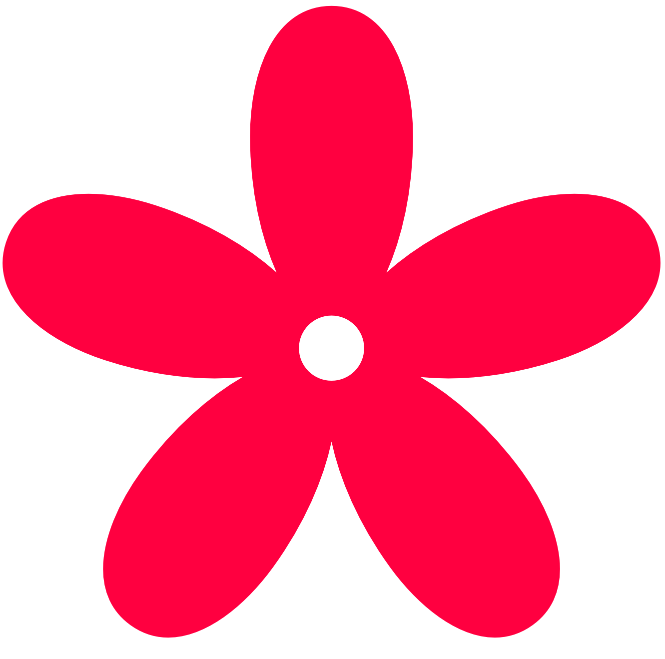 Red Flower clipart groovy #2