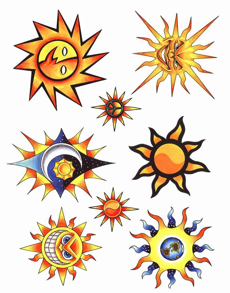 See 12 Sun tattoo sun