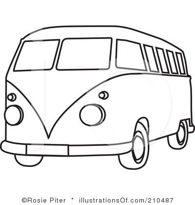 Vans clipart black and white VW More Bus saying