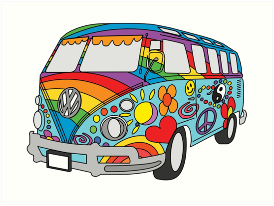 Hippie Painted Hippie by Van