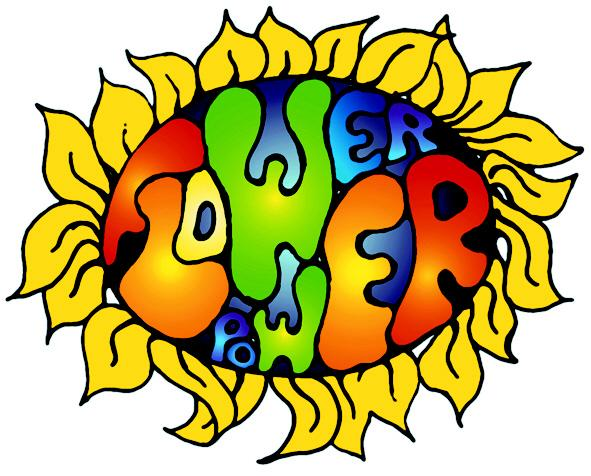 Hippies clipart yellow flower  Google flower Power Search