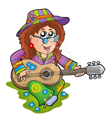 Hippie clipart female #6