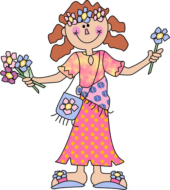 Hippies clipart #12