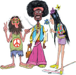 Hippies clipart #10