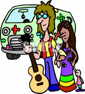 Hippies clipart #13