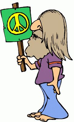Hippies clipart animated #3