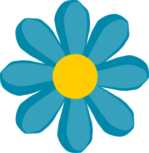 Blue Flower clipart cvet Flower Art Pretty for ibytemedia
