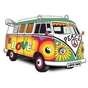 Hippies clipart cartoon Bus Free Art Cartoon Online