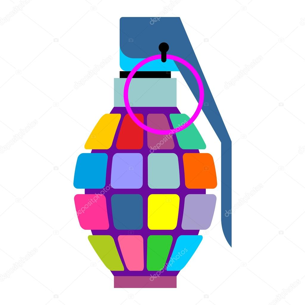 Hippies clipart colorful Hand projectile military grenade military