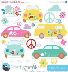 Hippies clipart yellow flower Graphics https://www etsy Peace Chick