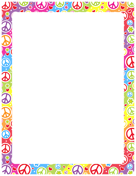 Peace Sign clipart border Borders and Art border Clip