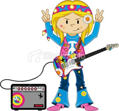 Hippies clipart female Cartoons Amp Guitars Girl Stock
