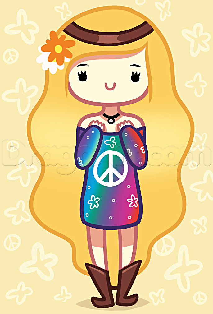Hippies clipart female FREE Hippy Step hippy How