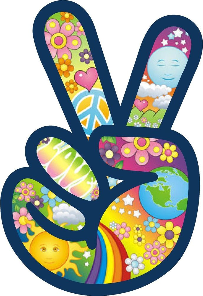 Peace clipart hippie flower Flower Peace Sticker Car Power
