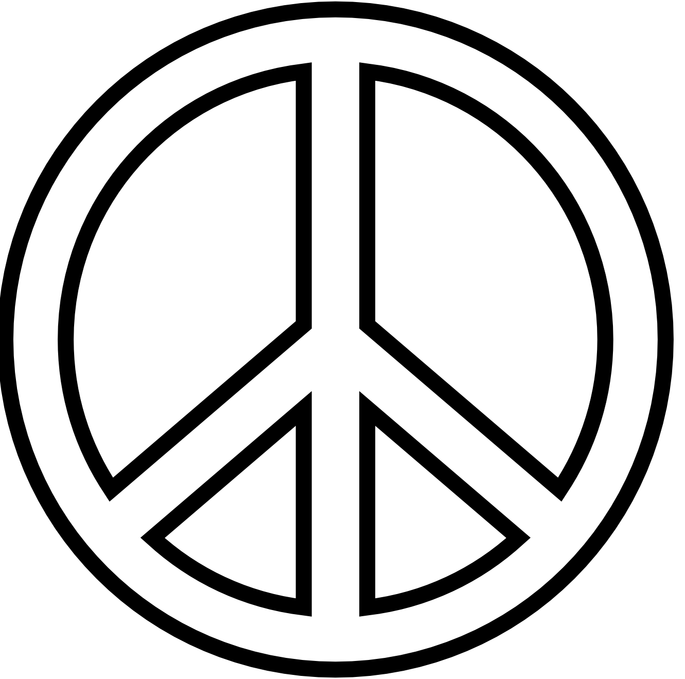 Peace Sign clipart simple Free xmas Art art white