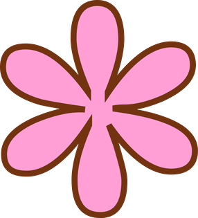 Pink Flower clipart hippie Clip of Oh and Art