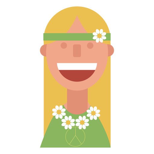 Woman clipart hippy PNG children flower png &
