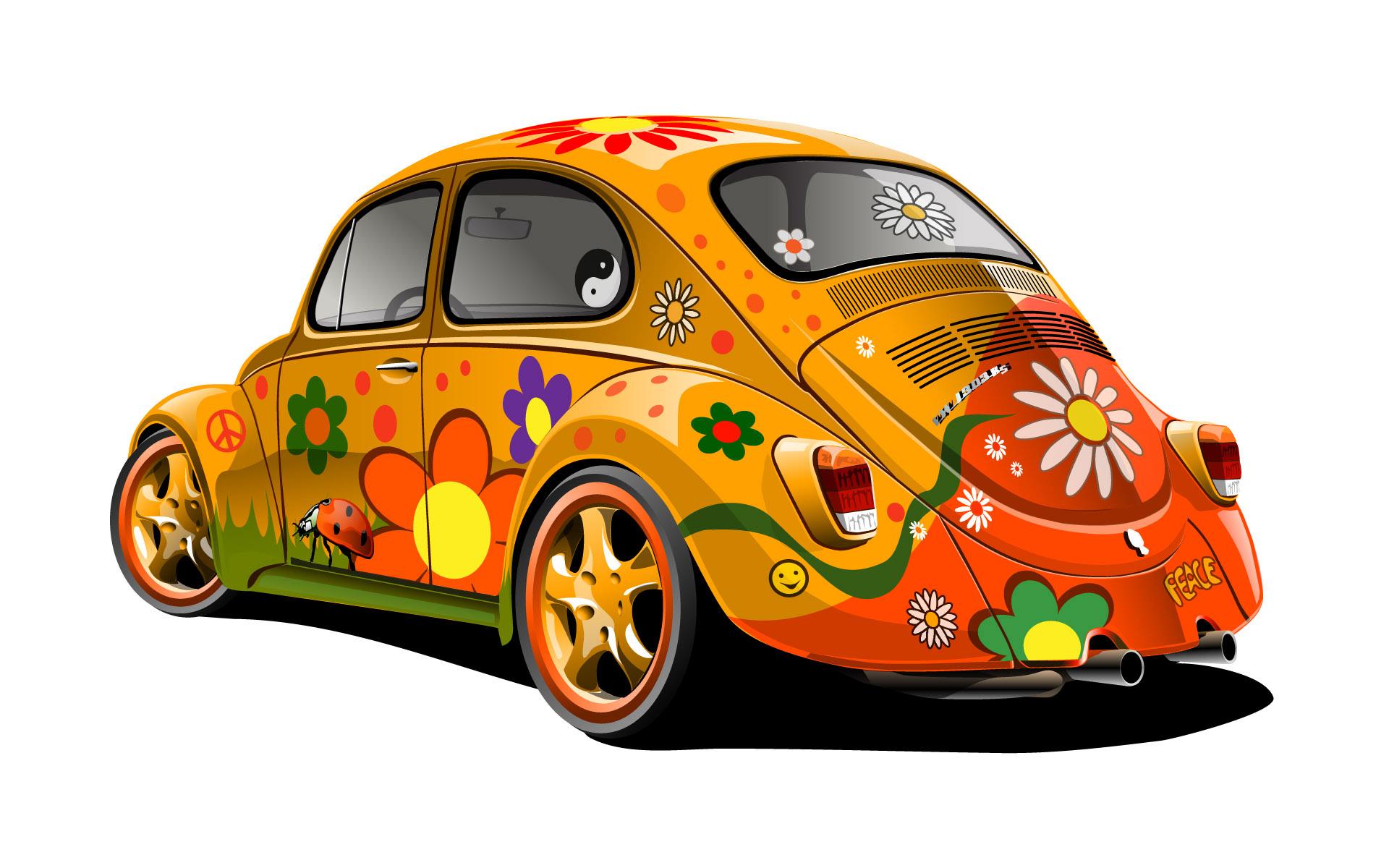 2 VW Car Hippie Talk