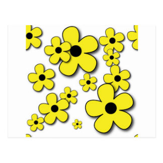 Hippies clipart yellow flower Flower Pattern Zazzle FLOWERS Postcards