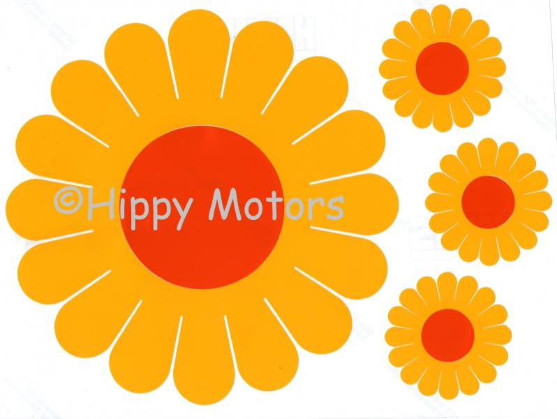Hippies clipart yellow flower  Groovy Gerbera Motors car
