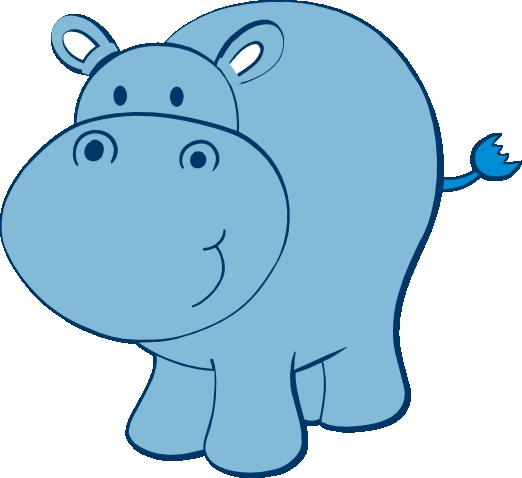 Hippo clipart Clipart com Cliparting Hippo Cute