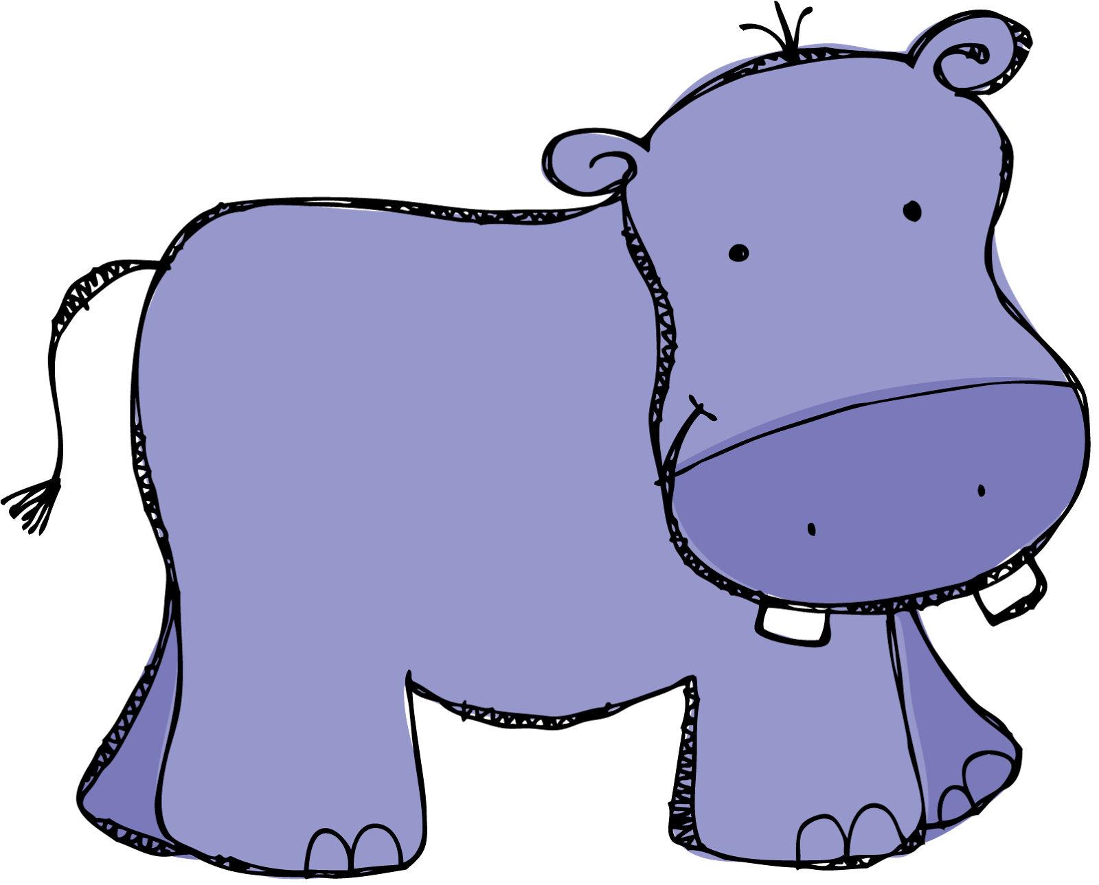 Hippo clipart Kid com clipart Purple 3