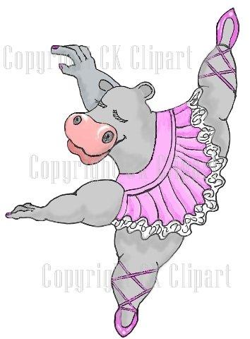 Ballerina clipart hippo #1