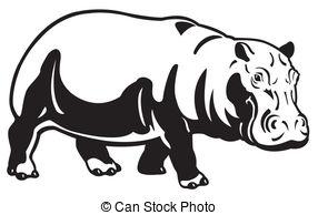 Black clipart hippo Hippopotamus clip art  and