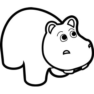 Black clipart hippo Art of Hippo emf svg