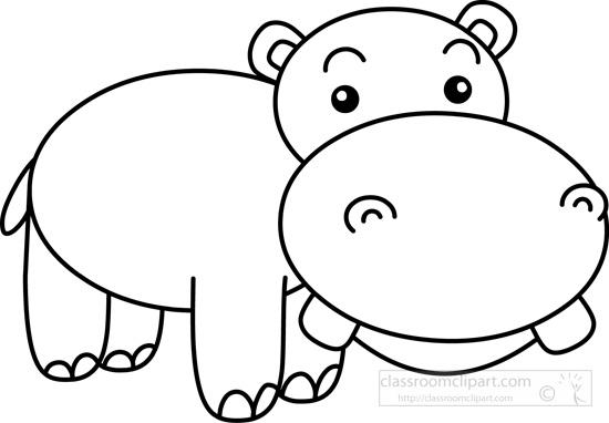 Black clipart hippo 2 Cliparting com Hippo Hippo