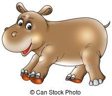 Brown clipart hippo 3 Hippopotamus Hippopotamus Stock 866