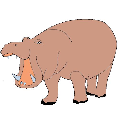 Brown clipart hippo Animal Brown Arts Hippo Clip