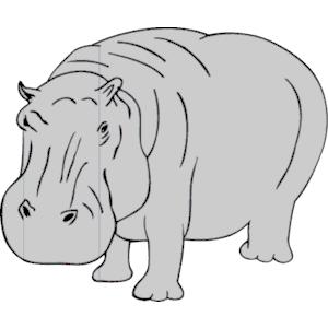 Black clipart hippo Add ClipartAndScrap Favorite 3 Hippo