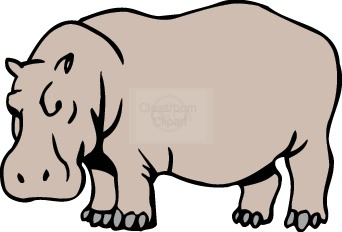 Brown clipart hippo Free Clipart Images Clipart Clipart