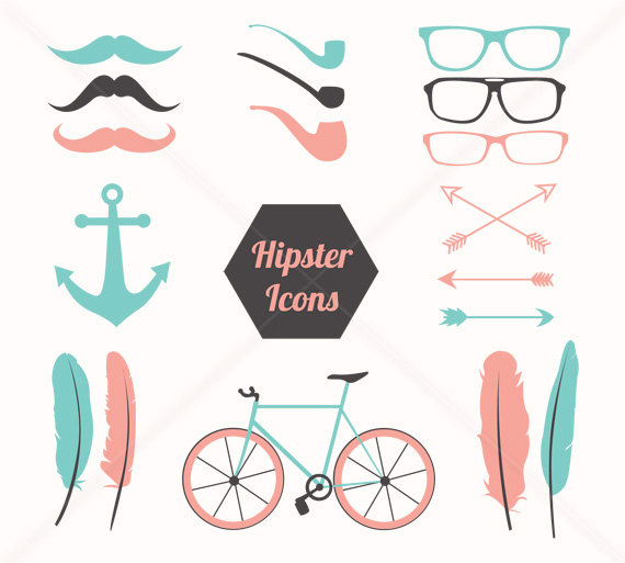 Hipster clipart Eps Clipart Commercial  Mustache