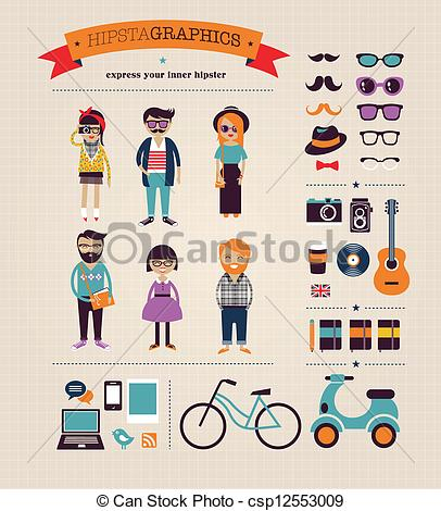 Hipster clipart Info graphic background Hipster Hipster