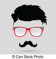 Hipster clipart EPS Images hairstyle  vector