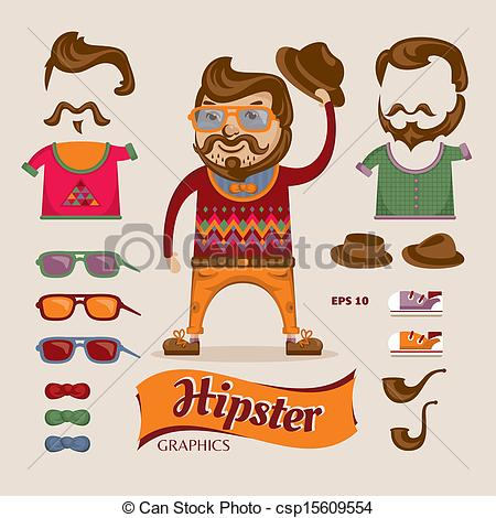Hipster clipart Man with hipster Hipster handsome