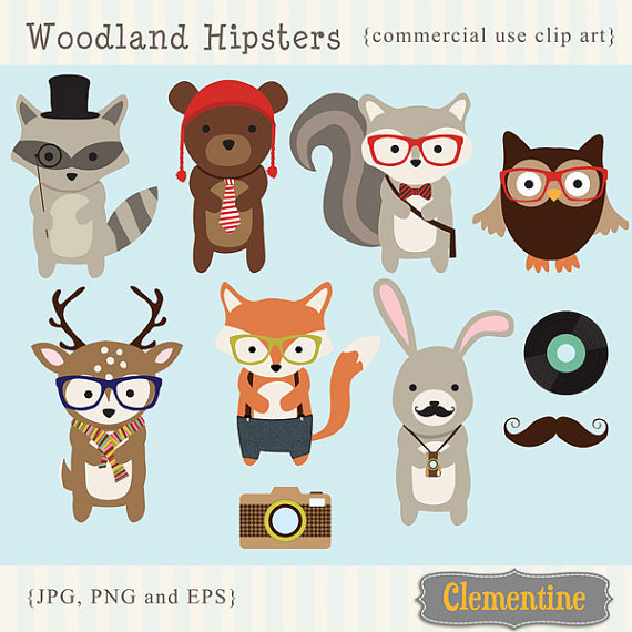 Hipster clipart Clip art images 00 $6