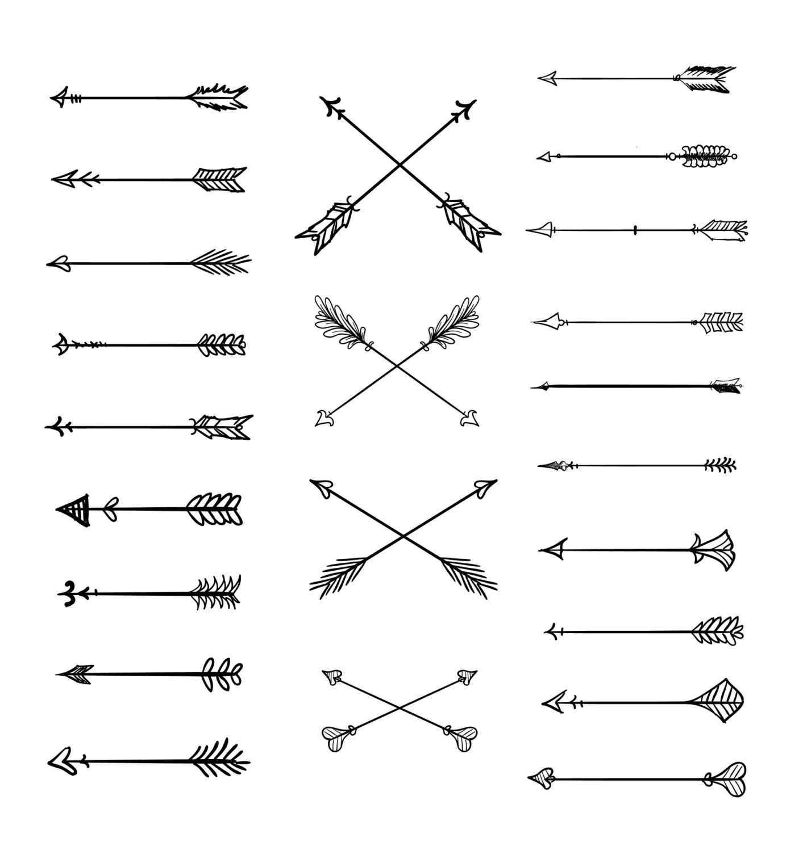 Hipster clipart arrow #3