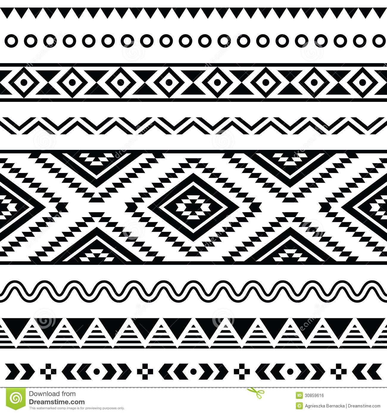 Aztec Warrior clipart border Background images Ztec Aztec Seamless