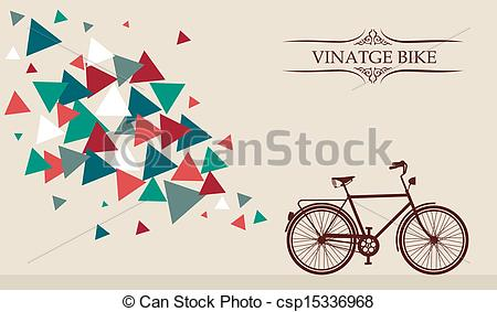 Hipster clipart bicycle Geometric geometric elements Clip Vector