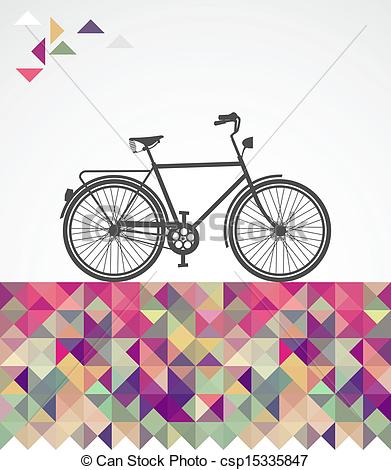 Hipster clipart bicycle  elements Vector Retro elements