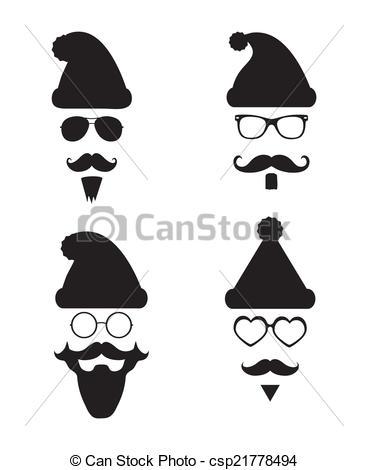 Santa clipart hipster #3