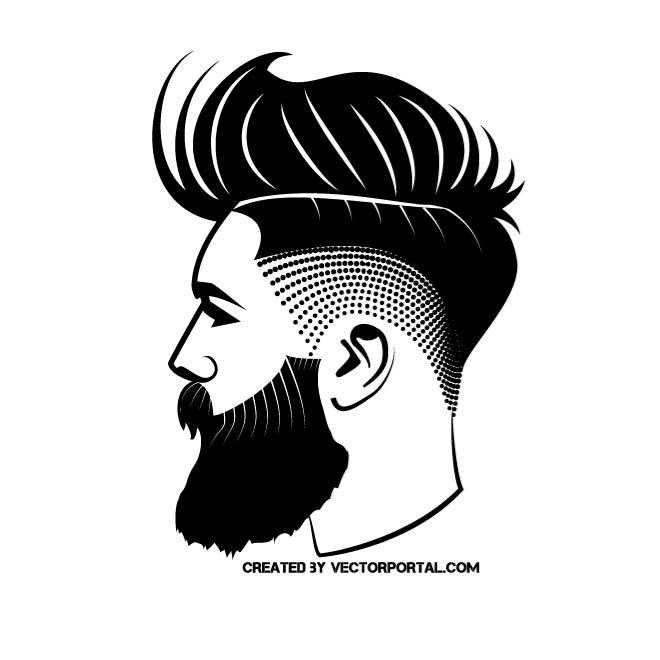 Hipster clipart black and white Vector Pinterest Various Hipster image